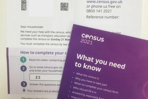 2021年3月21日日曜日まで。国勢調査に回答しないと罰金最高1000ポンド!